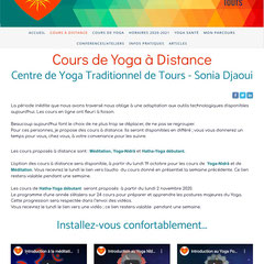 https://www.sonia-djaoui-yoga-37.com/ - Centre de Yoga Traditionnel Sonia Djaoui, à Tours
