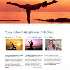https://www.leyogadepriti.com/ - Yoga Indien Patanjali avec Priti Bhati