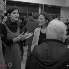 Anne-Laure Fabre-Nadler, co-listière de J-M Darmian, , Mathilde Feld, Présidente de la C.D.C. du Créonnais