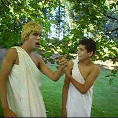 Claudio amonestando cariñosamente a su vástago Druso