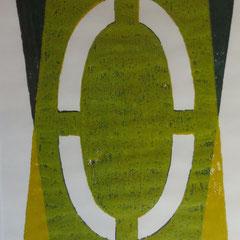 """""""Siegel"""" St. Marien 13.7.2001, Andruck Klaus Simon - geschaffen auf der Bauhütte von St. Marien"""