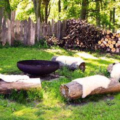 Ein schöner Platz  für gesellige Abende am Feuer