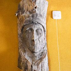 Detail: Skulptur im Bad Erdgeschoß
