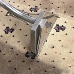 граница между почищенной и не почищенной площадью ковра при домашней ковровой чистке