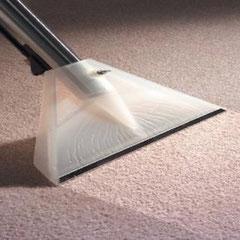 процесс сбора грязи и отработанных химсредств с поверхности ковра при его чистке на дому