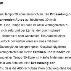 Warum Zone 30?