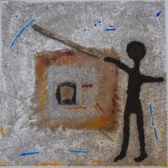 petit homme grandit, toile 40 x 40 cm, 147 euros