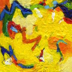 art, gelb, yellow, Kunst, Künstlerin, artist, mini-art, miniatur