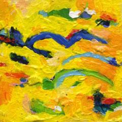 Miniatur, Schmuck, angewandte, Kunst, Acryl, gelb