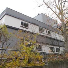 Marienhospital Stuttgart Modulbau - Ansicht von Nord/West in Richtung Süd/Ost nach Errichtung Modulbau