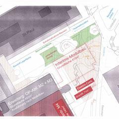 Marienhospital Stuttgart Modulbau - Auszug Baustelleneinrichtungsplan