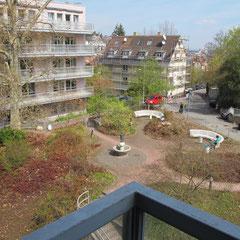 Marienhospital Stuttgart Modulbau - Ansicht von Süd in Richtung Nord vor Beginn der Baumaßnahmen
