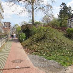 Marienhospital Stuttgart Modulbau - Ansicht von West in Richtung Ost vor Beginn der Baumaßnahmen