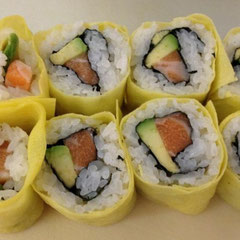 Inside out Roll with Egg Sheet