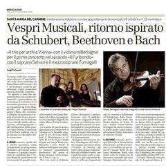 Presentazione del concerto di Brescia del 13 novembre 2016