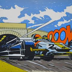 Roland Joungtorius, Monte Carlo, Öl auf Leinwand, 200 x 140 cm, 2008