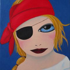 Kerstin Lichtblau, Die Piratin, 70 x 50 cm, Öl auf Leinwand, ABC Westside Galerie