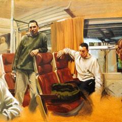 Nicolas Curmer,Gap-Carpiagne, 185x250, Öl auf Leinwand,  ABC Westside Galerie