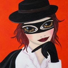 Kerstin Lichtblau, Zorra, 70 x 50 cm, Öl auf Leinwand, ABC Westside Galerie