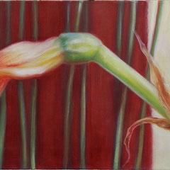 Anette Koch, o.T. (10.4.8) 2008, Öl auf Leinwand, 50 x 150 cm, ABC Westside Galerie