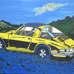 Roland Joungtorius, Targa, Öl auf Leinwand, 200 x 140 cm, 2008