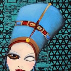 Kerstin Lichtblau, Nofretete 50 x 40 cm, Öl auf Leinwand, ABC Westside Galerie