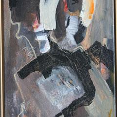 Titel Nr.3: Die Fremde Entstehungsjahr: 1996 Breite: 50 cm, Höhe: 90 cm Acryl auf Leinen