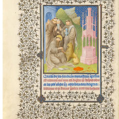 <h3>Saint soignant un lion</h3><p>Roman de la Rose 15°</p>