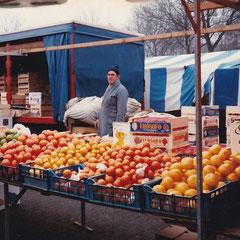 Foto: Jo de Klein op de markt in 1983