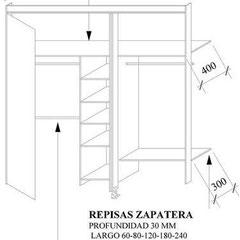 Sistema de Closets frentes bastidor con puertas batientes