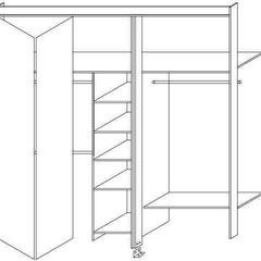 Sistema de Closets frentes bastidor con puertas plegables