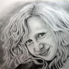 Melina, Bleistift, ca. 30 x 40 cm, Fotovorlage: Peter Andrianos