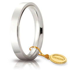 Fedi Nuziali Unoaerre Cerchi di Luce in Oro Bianco 3.5 mm.