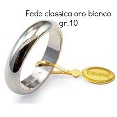 Fede unoaerre classica oro bianco grammi 10