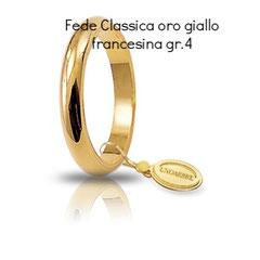 Fede Unoaerre Classica oro giallo francesina 4 grammi