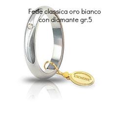 Fede unoaerre classica con diamante grammi 5