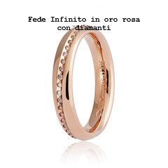 Fede Unoaerre infinito in Oro Rosa con Diamanti