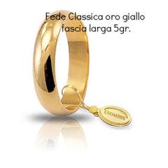 Fede Unoaerre Classica oro giallo 5 grammi fascia larga