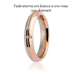 Fede Unoaerre Eterna Oro Bianco e Rosa con Diamanti collezione 9.0