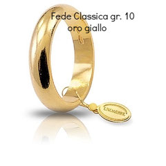 Fede Classica Unoaerre oro giallo grammi 10