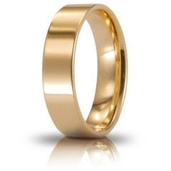 Fedi Nuziali Unoaerre Cerchi di Luce in Oro Giallo mm 5