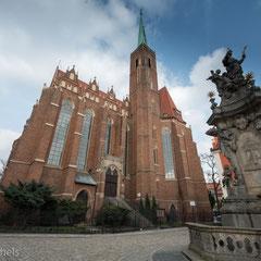 Der Breslauer Dom, die Kathedrale St. Johannes der Täufer (poln. Archikatedra św. Jana Chrzciciela) des Erzbistums Breslau.