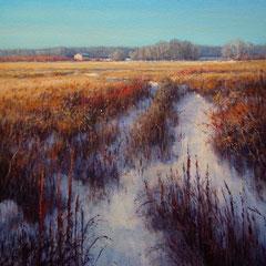 Le vieux chemin dans la prairie  - acrylique sur toile - 20 po X 16 po - DISPONIBLE