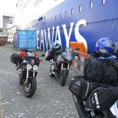 Bei der Ankunft wunderten wir uns über wenige Motorradfahrer