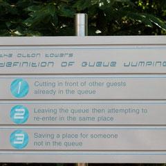 """Die """"Definitions of Queue-Jumping"""" (wird hier sehr ernst genommen!!!)"""