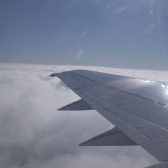 Über den Wolken ist dann auch das Wetter in Deutschland nicht so wirklich schlecht.
