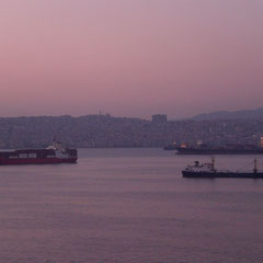 Ankunft im Hafen von Izmir.