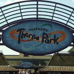 Thorpe Park - endlich sind wir live vor Ort.
