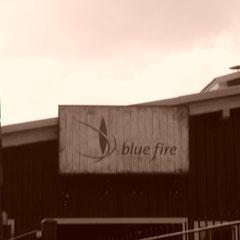 Blue Fire im Retro-Stil