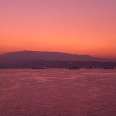 Morgenröte vor der türkischen Küste.
